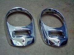 Ford 100E/107E Chromed Headlamp Bezels Perfect Free UK delivery (conditions Apply)